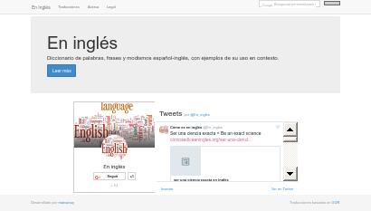 Base de datos bilingüe screenshot