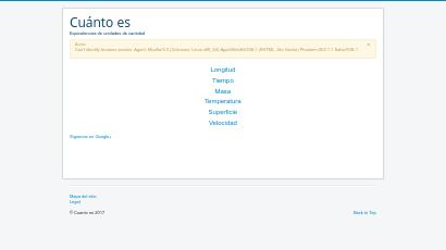 Conversiones screenshot