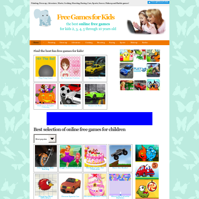 Online free games for kids screenshot