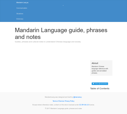 Mandarin Chinese Language Resources screenshot