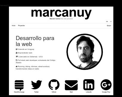 Web personal screenshot