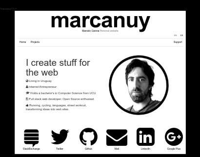 Personal Website Project screenshot