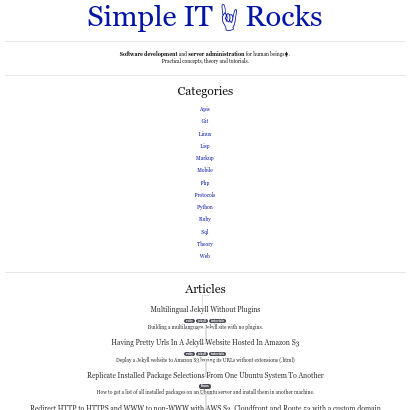 SimpleIT.Rocks screenshot